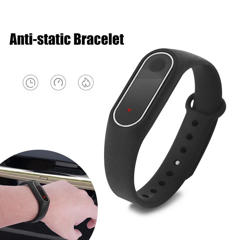 1 Pc Wireless Anti Static Wrist Strap Anti-Static Bracelet To Remove The Body Static Elimination Bracelet For Women, Men, Kids