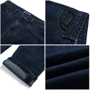 Image 5 - Pioneer Camp New arrival dark blue skinny men jeans brand clothing fashion feet pants male top quality denim trousers ANZ707023