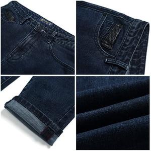 Image 5 - Tiên phong Trại Mới đến màu xanh đậm người đàn ông gầy quần jean thương hiệu quần áo thời trang chân quần nam hàng đầu chất lượng denim quần ANZ707023