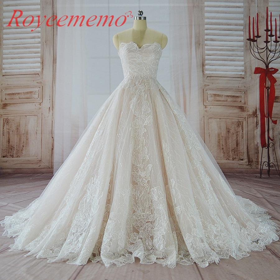 varm försäljning rosa satin av axeln speciella spetsar design - Bröllopsklänningar - Foto 5