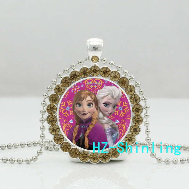 Snow Queen Diamontrigue Jewelry: New Snow Queen Crystal Necklace Princess Anna Pendant