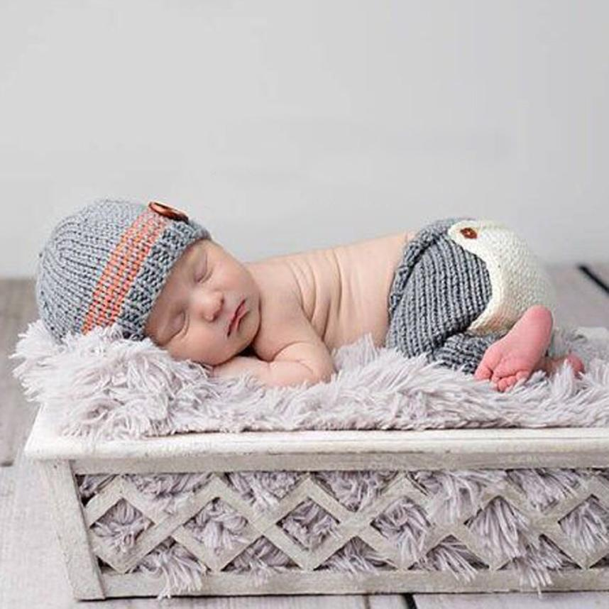 Newborn Baby boys Knit Crochet Clothing Sets toddler gilrs birthday Costume Photo Photography Props Outfit Baby Hat+Pant christmas cute crochet knit costume prop outfits photo photography baby ear hat photo props new born baby girls cute outfits