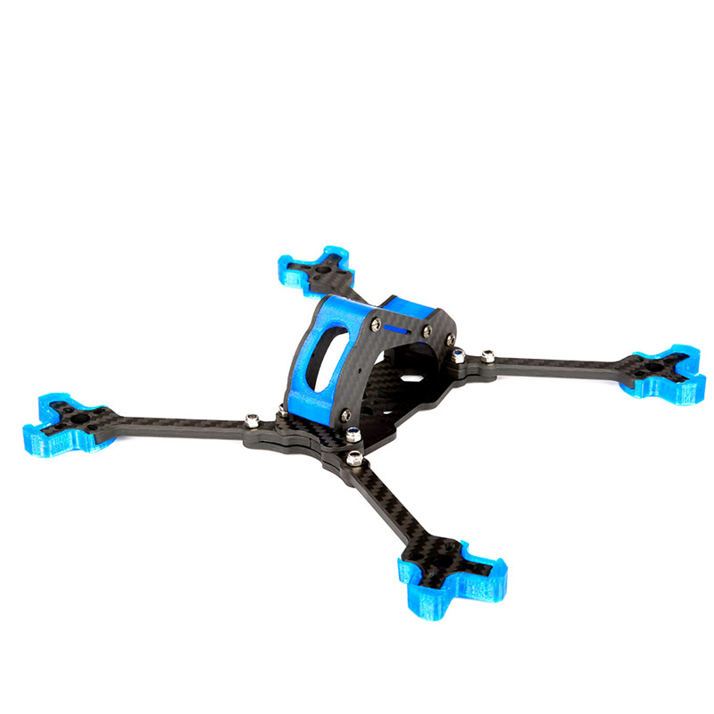 Nidici Kun-H5 227mm Wheelbase 5mm Arm 3K Carbon Fiber 5 Inch FPV Racing Frame Kit for RC Drone Multirotor DIY Spare Parts Accs alfa lsx5 5mm 6mm arm thickness 3k carbon fiber racing stretch x frame kit for rc multirotor fpv racing drone