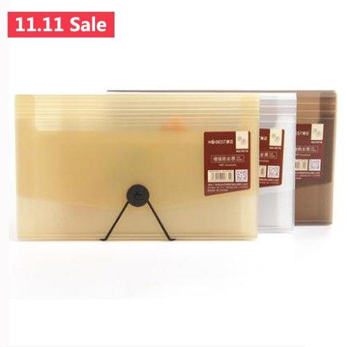 2pcs Simple Organ Document Bag File Folder Expanding Wallet Bill Folder Small Size Document Bag Office Supply