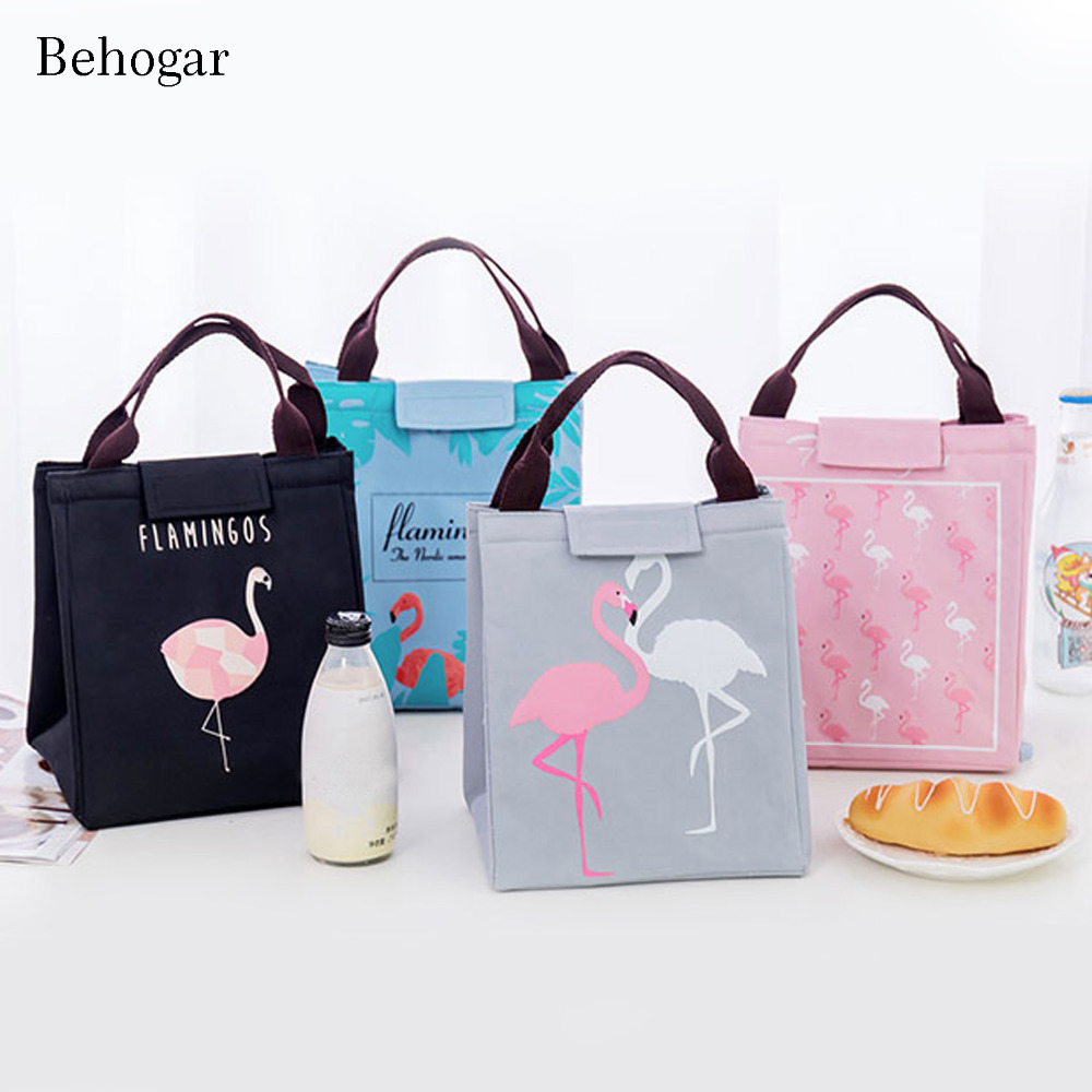 Behogar Oxford Thermal Insulated Lunch Tote Bags Handbag Beach Picnic Food Storage Case Box Pouch Cooler Sacks for Women Girls
