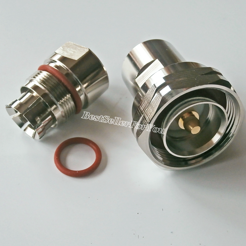 """1pce Connector UHF PL259 male plug clamp 1//2/"""" corrugated cable Straight"""