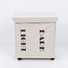 Грязную одежду корзина для хранения две сетки Организатор Корзина Складная Большой бельем водонепроницаемый Оксфорд домашняя корзина для белья