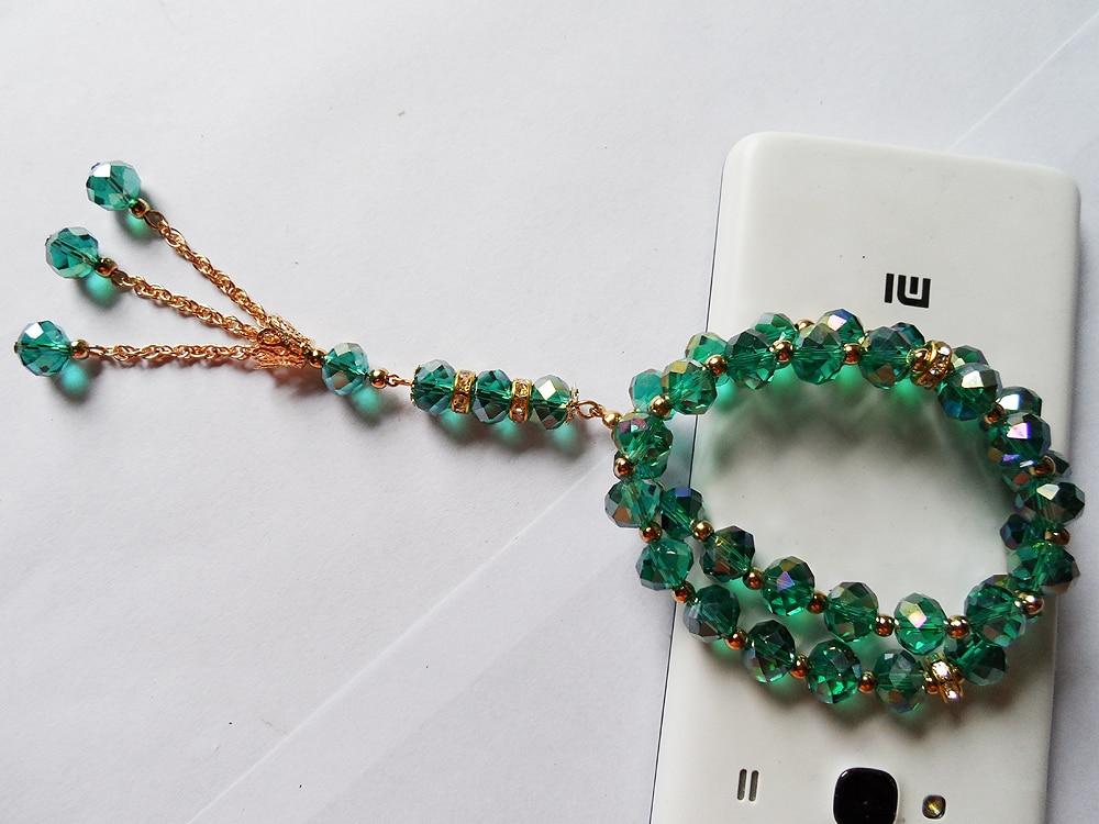 * Nakit tvornica Novi dizajn Malahit zeleni kristal muslimanske narukvice, modni elastični pozlaćen zlato muslimanski lanac narukvica nakit