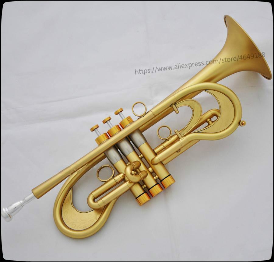 Professional Bb Trumpet Customized Flumpet Horn Matt Finish With Case