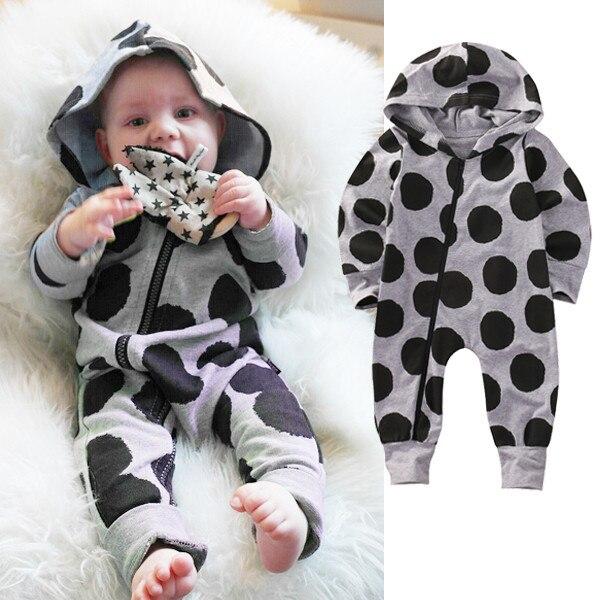 a14d91bf5aab7 Bébé Enfants Garçon Fille Infantile Capuche Barboteuses Salopette Coton Vêtements  Outfit Set ...