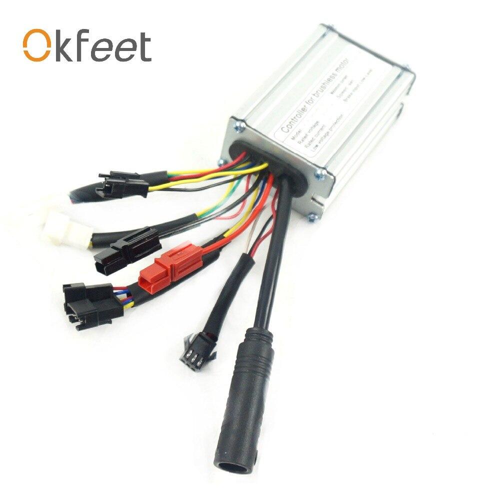 okfeet 36V 48V 350W 36V 48V17A Ebike controller standard Sinewave SM cable KT Series Support LEDLCD