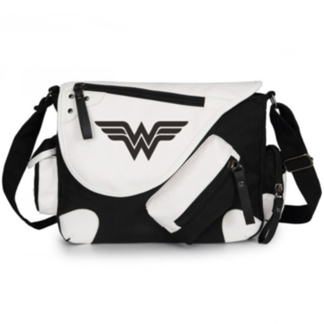 Wonder Woman Lady Super Hero Handbag Agers School Book Students Bags Cosplay Shoulder Messenger Bag Gifts