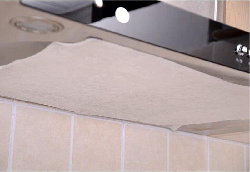 Universel Pour Hotte De Cuisinière Cuisine Absorbant papier non-tissé Anti huile coton Filtres