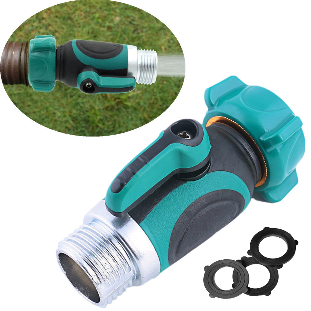 Mits Auto Wassen Slang Tap Snelkoppeling Klep Tuinslang Tap 1/2 Kranen Waterpistool Adapter Quick Fitting Adapter 1 Stks 3.8