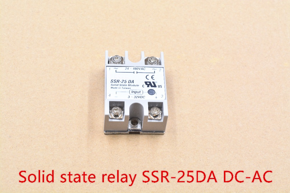 Industrial single phase solid state relay SSR - 25DA 25A actually 3-32V DC TO 24-380V dc control ac SSR-25DA 1pcs 3 phase solid state relay ssr dc ac 25da