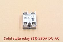 Industrial single phase solid state relay SSR – 25DA 25A actually 3-32V DC TO 24-380V dc control ac SSR-25DA 1pcs
