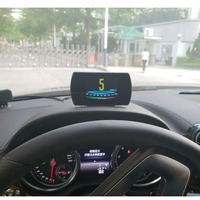 P12 4.3 TFT OBD Hud GPS Head Up Display Digital Car Speed Projector Trip Computer OBD2 Speedometer Error Code Clear