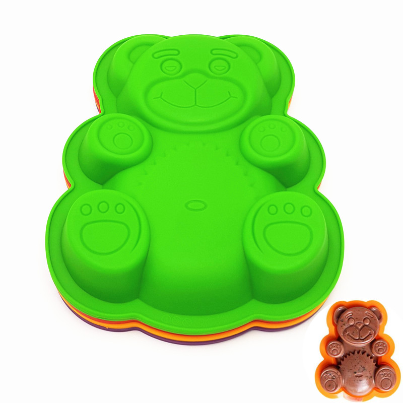 To encounter Hot Sale Lovely Bear Cake Mold 3D Silicone Cake Mold Baking Tools For Bakeware Free Shipping