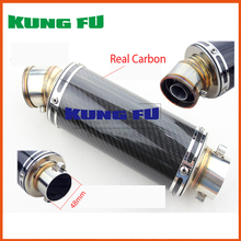 real carbon black color mini 48mm exhaust pipe motorcycle exhuast gy6 motorbike akrapovic muffler silencer accessories