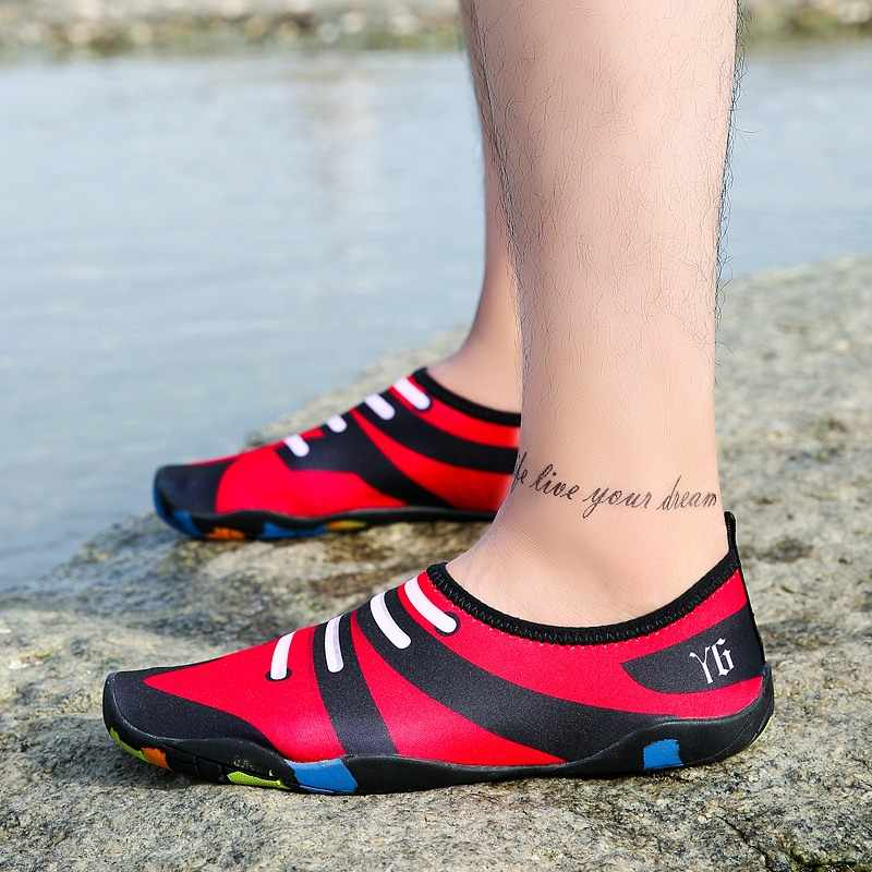 Men Women Beach Outdoor Swimming Water Shoes Quick-dry Unisex Aqua Shoes Surf Yoga Size 35-46