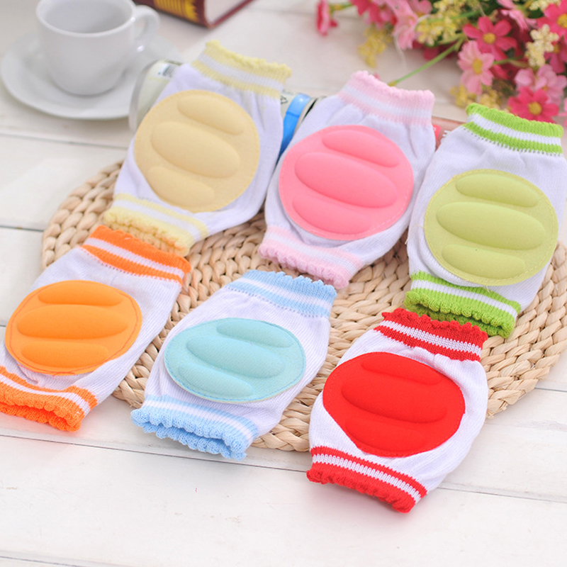 1Pair Baby Kneepad Cozy Cotton Breathable Sponge Children Knee Pads Learn To Walk Best Protection Crawling Leggings Pad