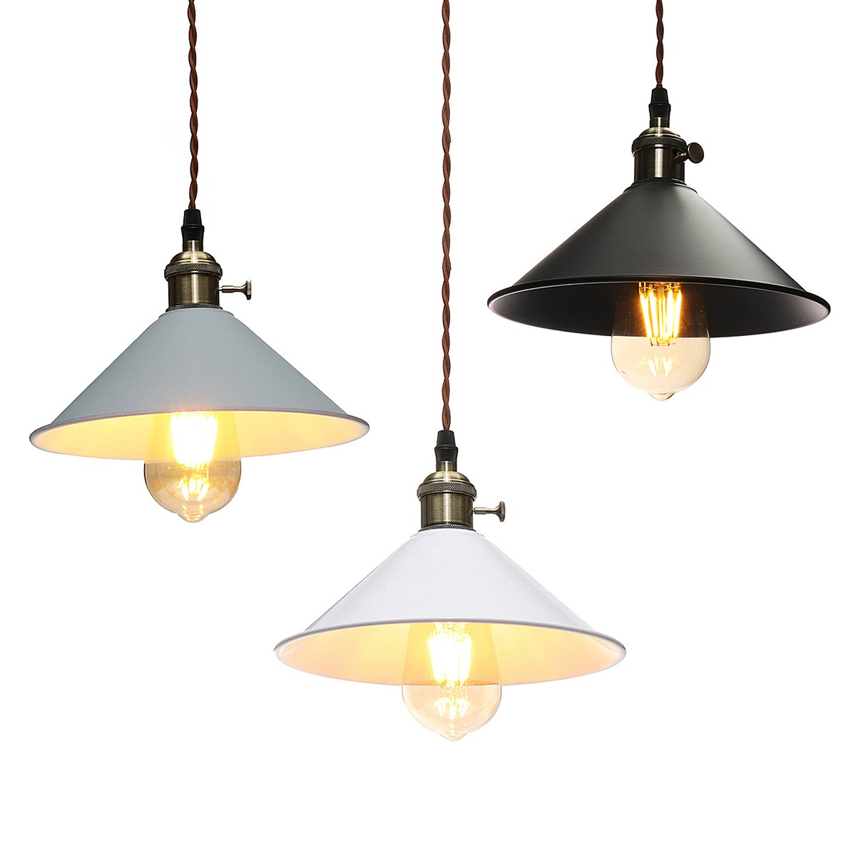 Modern Iron Pendant Lights E27 Edison Bulb LED Hanging Lamp Decor Pendant Lamp Fixtures For Bedroom Dining Room Bar Cafe vintage nordic iron cage pendant lights led e27 edison bulb pendant ls loft cafe bar restaurant decorative hanging lamps