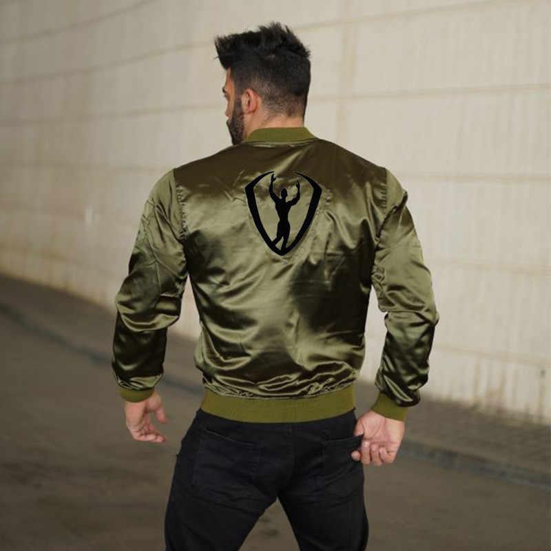 2018 Herfst en winte Nieuwe mannen Bomber Zipper Jacket Man Casual Streetwear Hip Hop Slim Fit Pilot Jas Mannen kleding Plus Size2XL