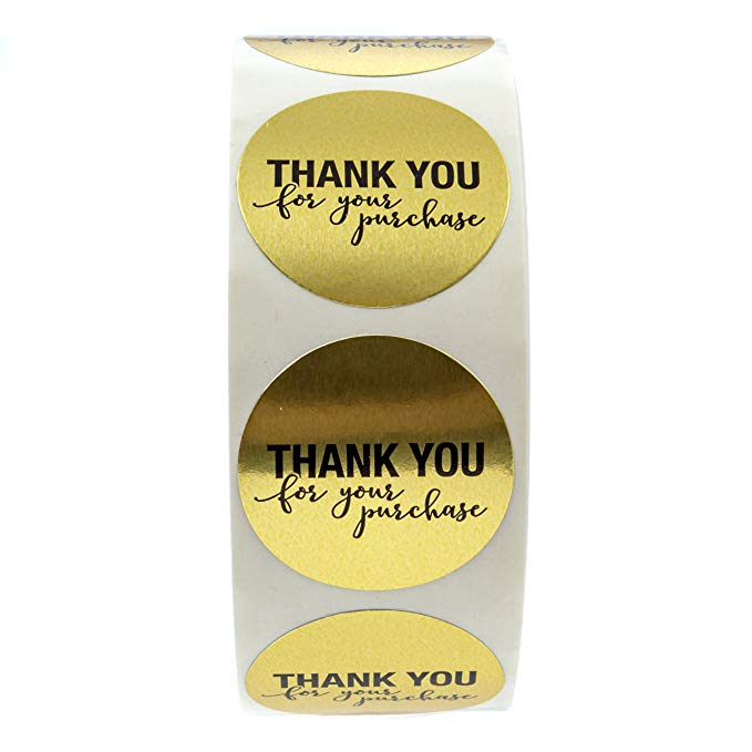 """Купить с кэшбэком Round Gold """"THANK YOU for your purchase"""" Stickers seal labels 500 Labels stickers scrapbooking for Package stationery sticker"""