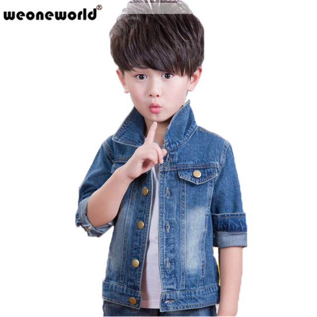 2535d2667340 WEONEWORLD 2018 New Spring and Autumn Children Outerwear Casual Kids ...