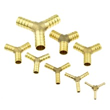 Brass Splicer Pipe Fitting Y Shape 3 Way Hose Barb 4mm 6mm 8mm 10mm 12mm 16mm Copper Barbed Connector Joint Coupler Adapter(China)