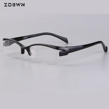Mix wholesale little QTY ultra Light glasses half rim Eyeglasses oculos ladies frame eyeglasses frames men women clear lenses