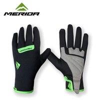 2015 Merida Team Waterproof Winter Cycling Bike Bicycle Full Finger Gloves Shockproof M XL