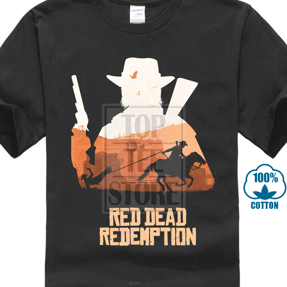 Gildan New 2018 Men'S Casual Letter Printed Top Quality Men'S Tees Best Red Dead Redemption John Marsto Movie T Shirt