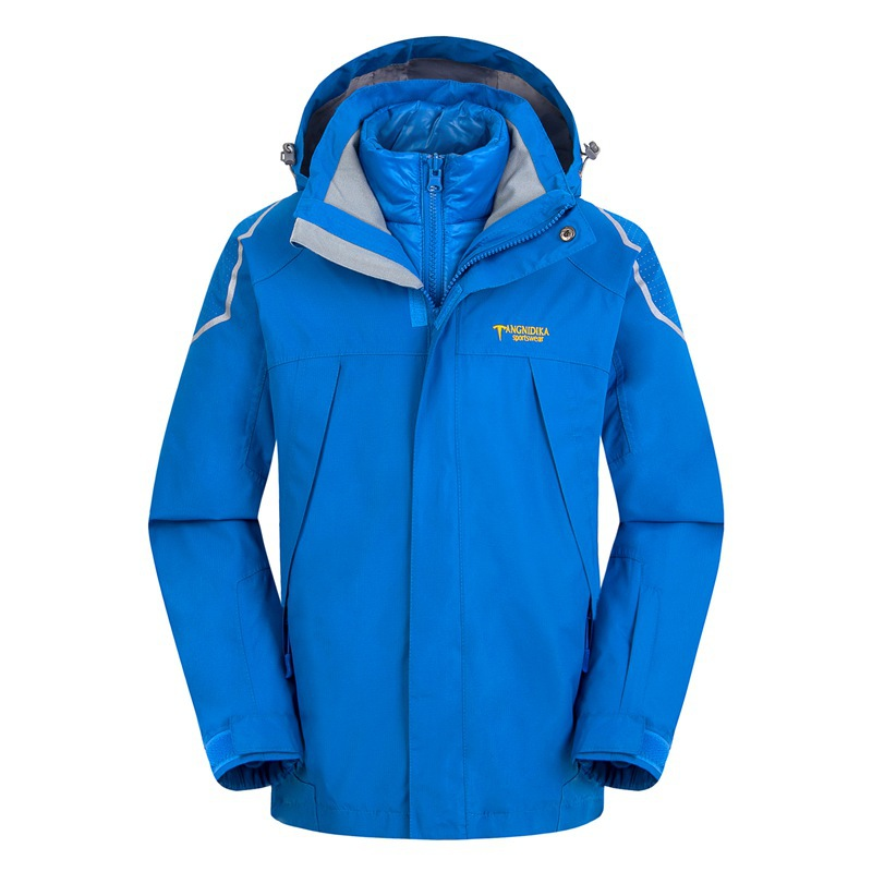 Waterproof Index 15000mm Warm Child Coat Windproof Boys Girls Jackets Sporty Kids Clothes Double-deck For 5-14 Years Old Winter