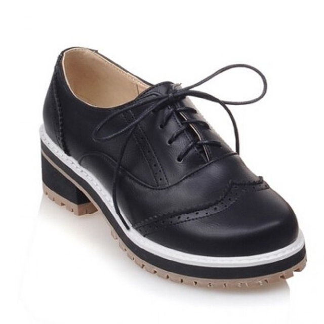 High Quality Preppy Tide Lace Low Top Comfortable Vogue Oxfords School Office Shoes Size 66