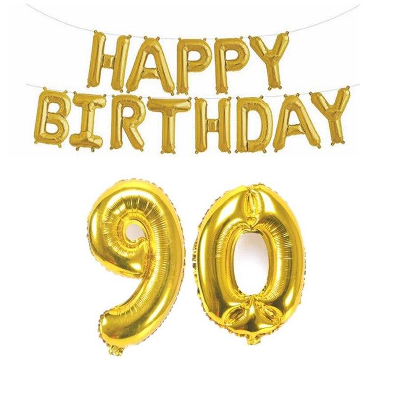 Zljq шары из фольги для взрослых с днем рождения 16 18 30 40
