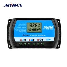 AIYIMA 12V 24V Solar Controller 30A 20A 10A Voltage Regulator PWM Solar Charge Controller LCD USB 5V Solar Regulator