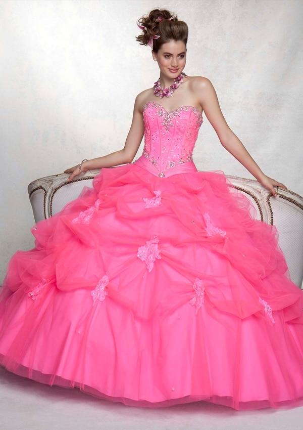 289e91f88 Mis Xv Vestidos De 15 Años Rosa Neon 5