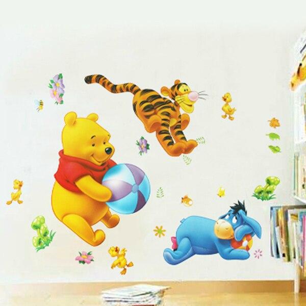 dibujos animados the pooh juego pegatinas de pared arte tatuajes de beb oso de la historieta