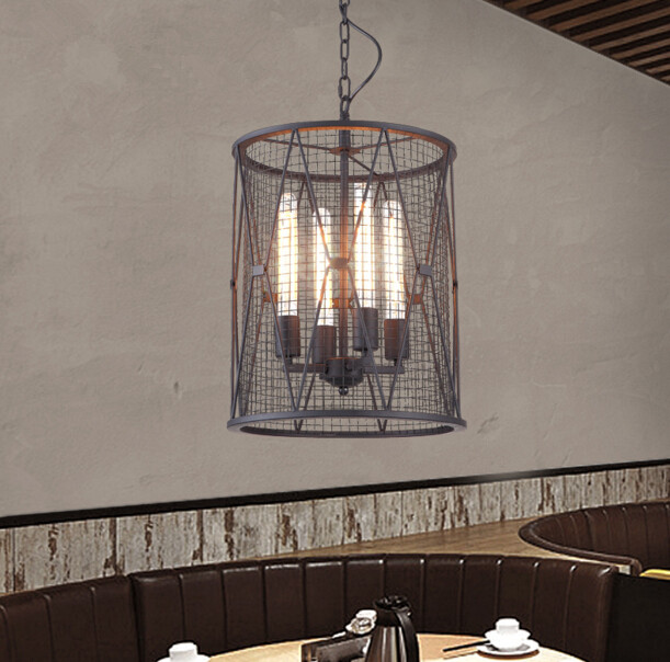 Nordic Retro Bar Iron Chandelier Cafe Restaurant Creative Personality Nostalgic Art Industrial Vintage Loft Light Free Shipping