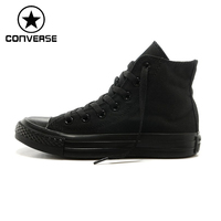 Converse 100 Original Skateboard Shoes Men And Women Converse Shoes Black Sneakers All Star Shoes Free