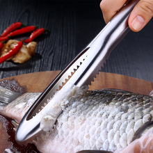 YOTOP Fish Skin Brush Stainless Steel Scraping Scale Graters Fast Remove Cleaning Peeler Scaler Scraper
