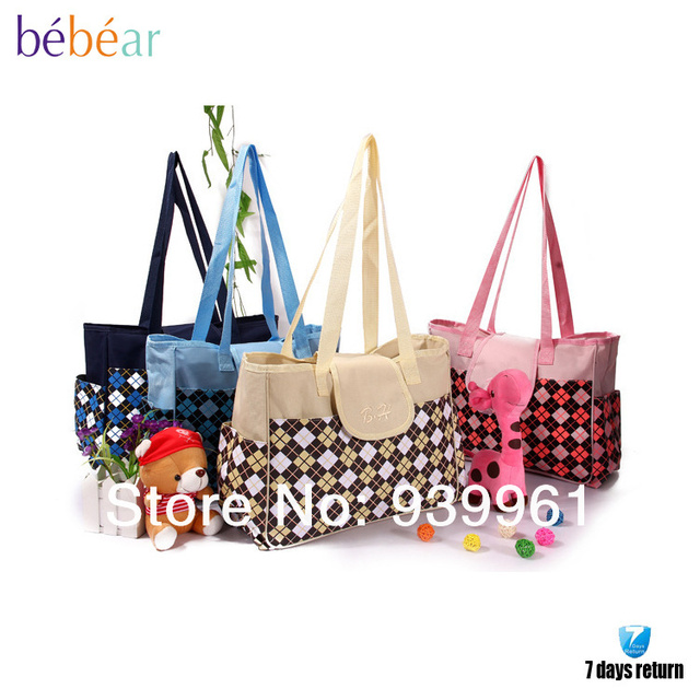 Us 58 0 Bebear Free Shipping Baby Items Wet Bags Diapers Microfiber Tote Handbags Cross Body Personalized Diaper Bags In Diaper Bags From Mother