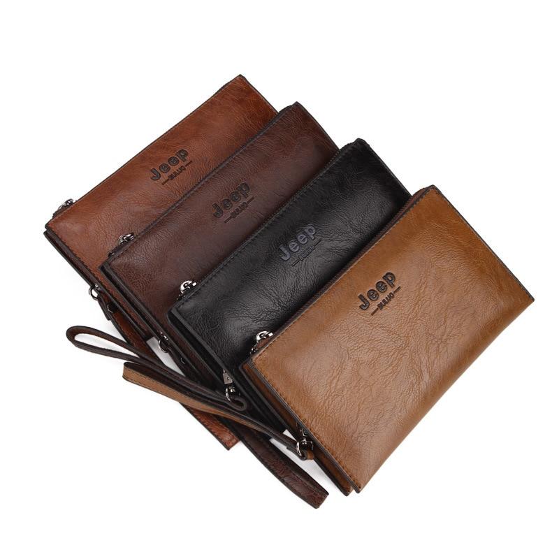 Hot Sale Luxury PU Leather Business Long Wallet Men Zipper Coin Pocket Clutch Bag Long Men Purse Card Holder Male Wallet</
