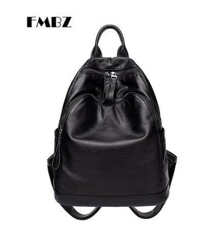 FMBZ shoulder bag female bag 2018 new wild soft leather backpack casual Woman backpack fashion mummy bag free shipping цена 2017