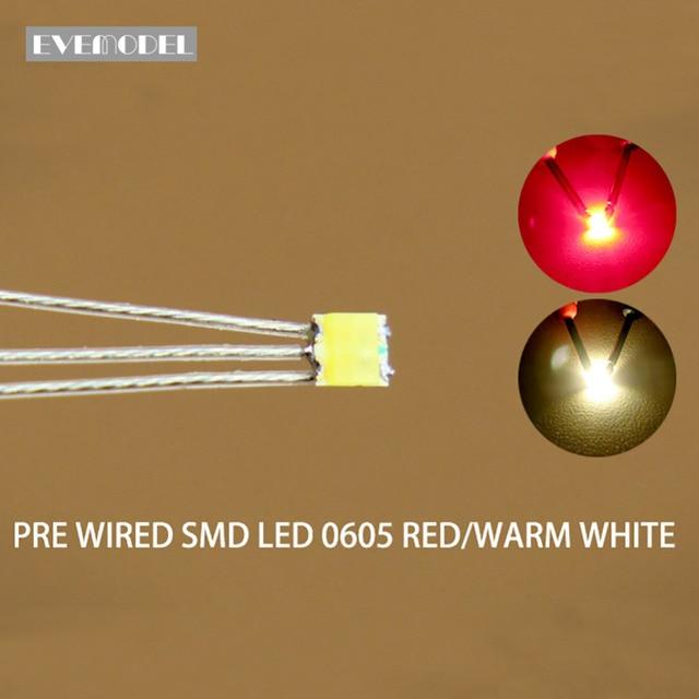 DT0605RWM 20 قطعة قبل ملحوم ليتز السلكية ثنائية اللون المزدوج الأحمر/الدافئة الأبيض مصلحة الارصاد الجوية 0605 LED
