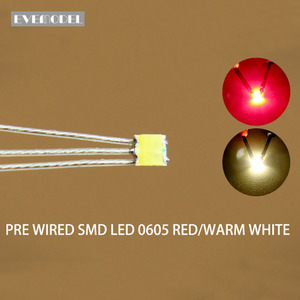 Image 1 - DT0605RWM 20Pcs Pre Gesoldeerd Litz Bedrade Bi Kleur Dual Rood/Warm Wit Smd 0605 Led