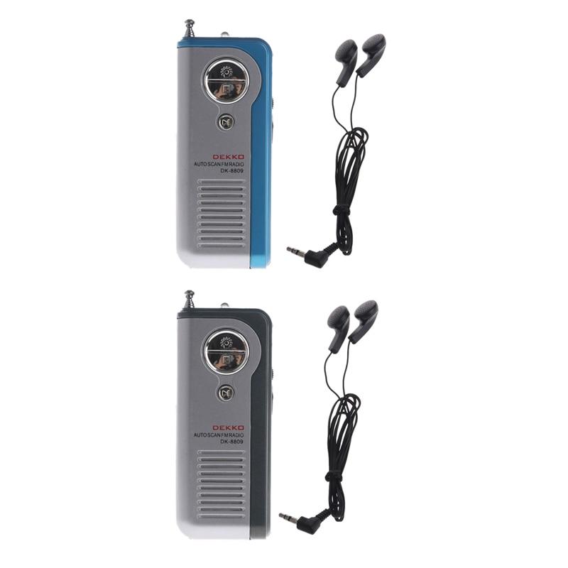 VertrauenswüRdig Ootdtymini Tragbare Auto Scan Fm Radio Receiver Clip Mit Taschenlampe Kopfhörer Dk-8809 Modische Muster Radio Tragbares Audio & Video