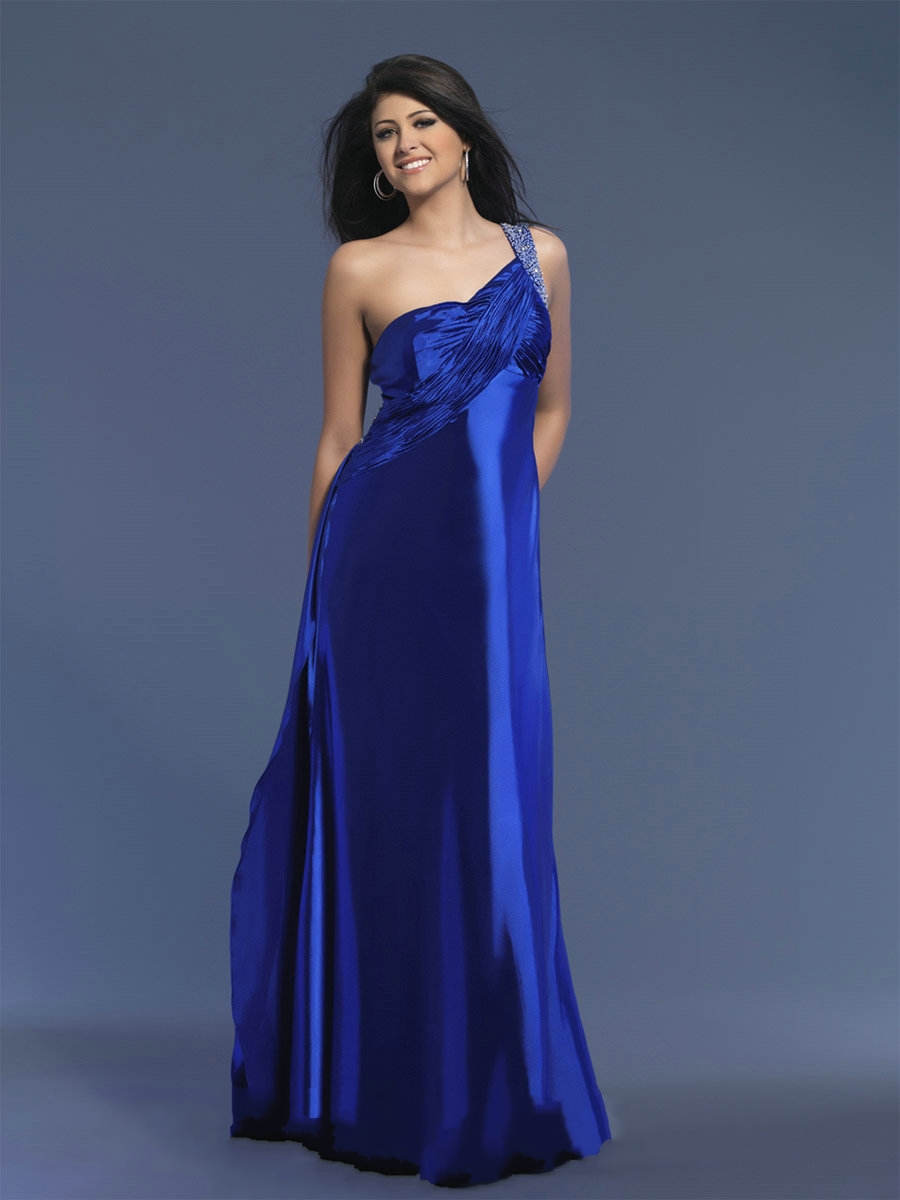 US $146.99 |2013 Royal Blue One Shoulder Empire Custom Made Plus Size Prom  Dress Custom 2 4 6 8 10 12 14 16 18 20 22 +++++-in Bridesmaid Dresses from  ...