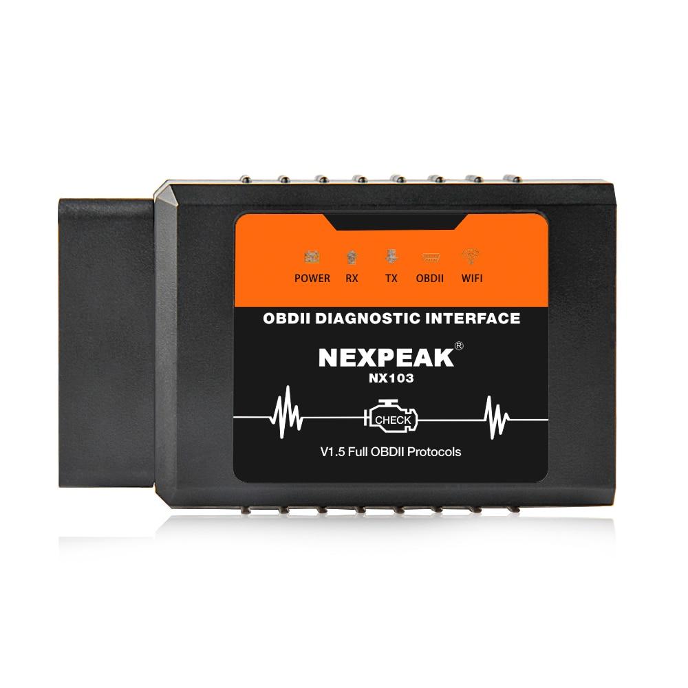 OBD2 ELM327 V1.5 WIFI IOS Adapter Scanner for iPhone Car Diagnostic Tool OBD 2 ODB II ELM 327 WIFI ODB2 Car Scanner EML327 WIFI